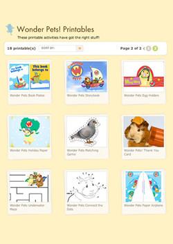 Nick Jr. Printable Thumbnail Loader