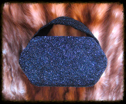black beaded purse4