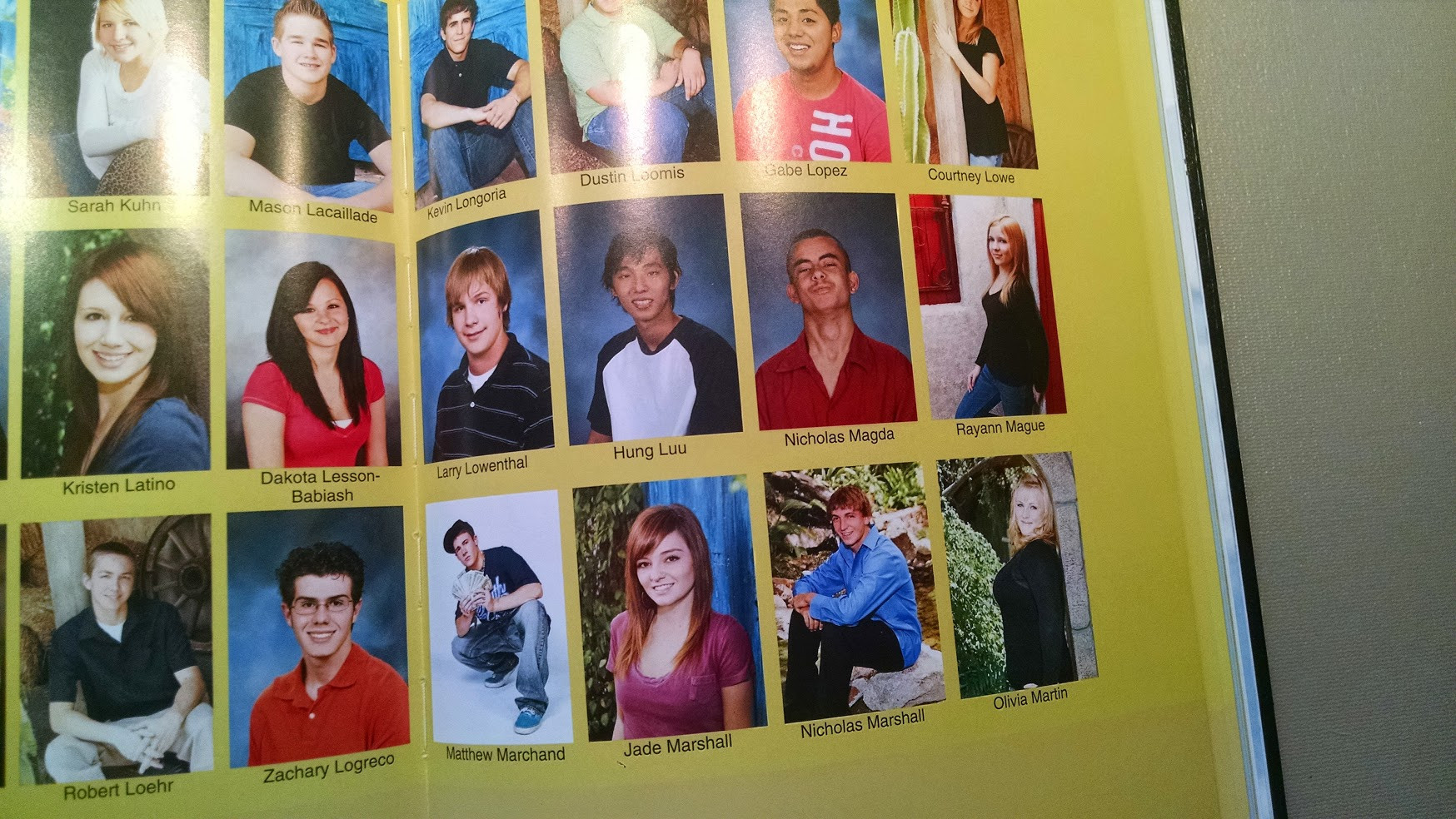 Actual yearbook