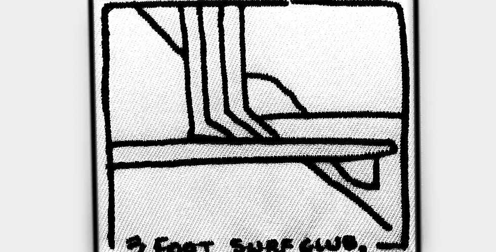 """Reverse Rider 01"" | Three Foot Surf Club Patch"