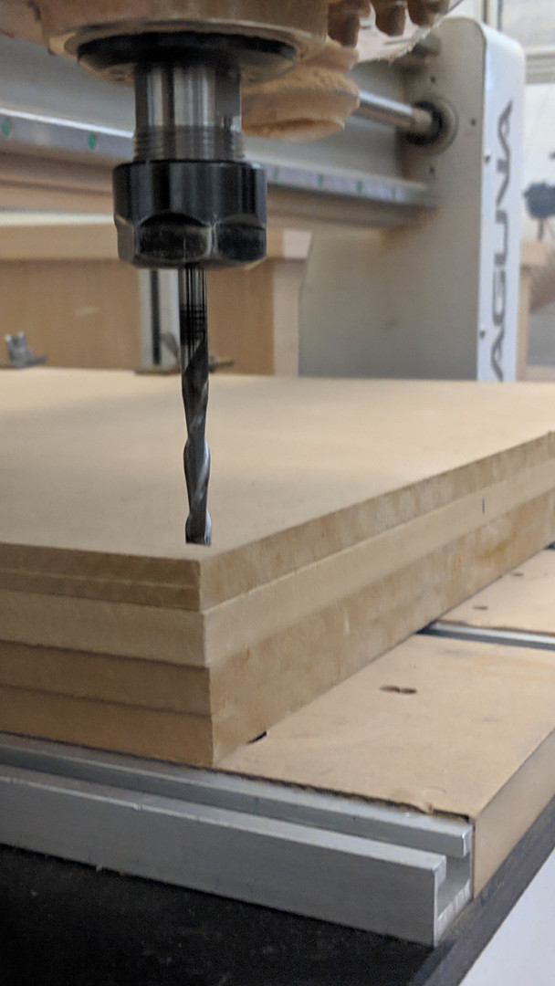 CNC'd mdf for the press mold