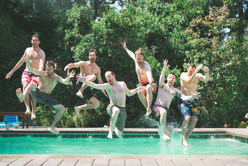 Pool parties with the boys