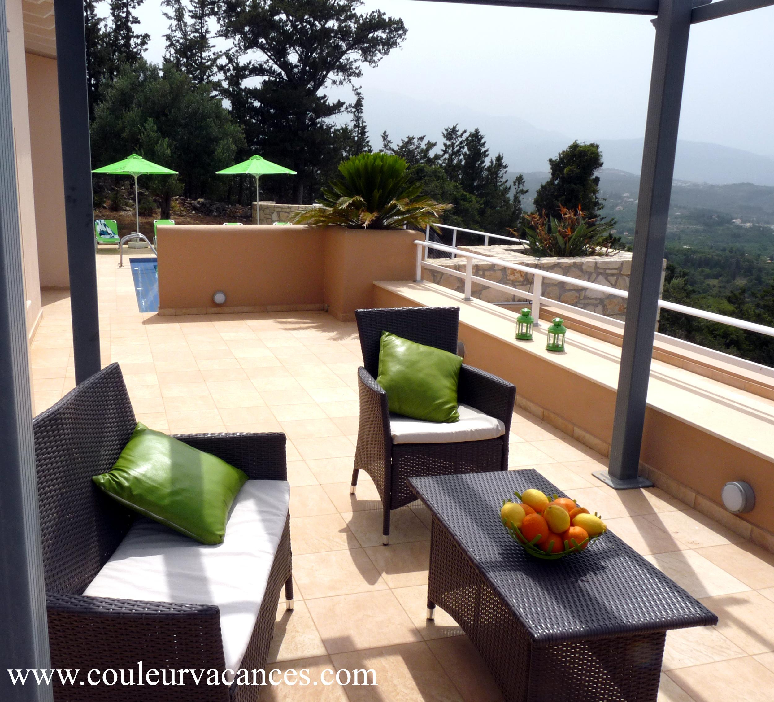 terrasse extérieur villa hermes