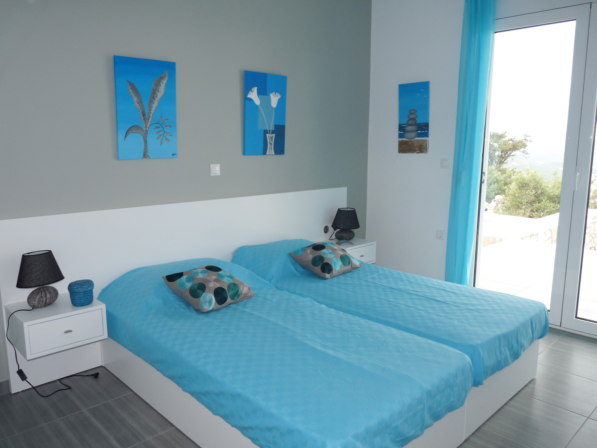chambre lits jumeaux Villa Penelope