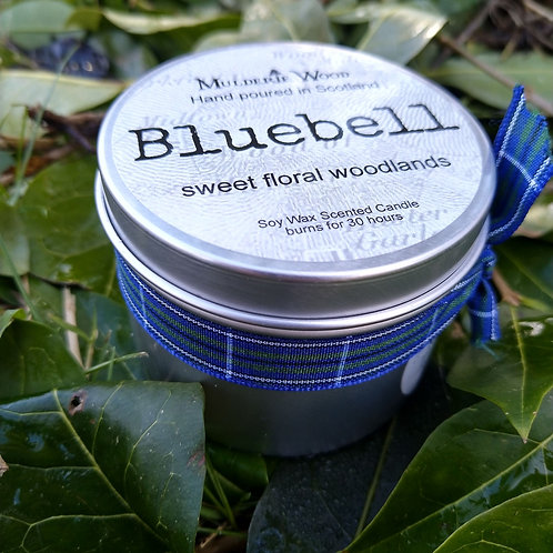 Sweet Floral Bluebell Scented Soy Wax Tin Candle