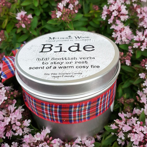 Scottish Bide Camp Fire Side Soy Wax Tin Candle