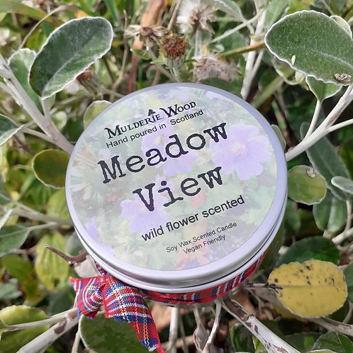 Meadow View Wildflower Soy Wax Handmade Scottish Candle