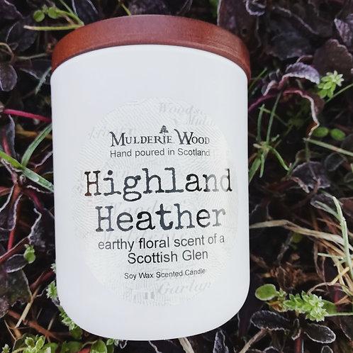 Highland Heather Scottish Glen Soy Wax Luxury White Large Jar Candle