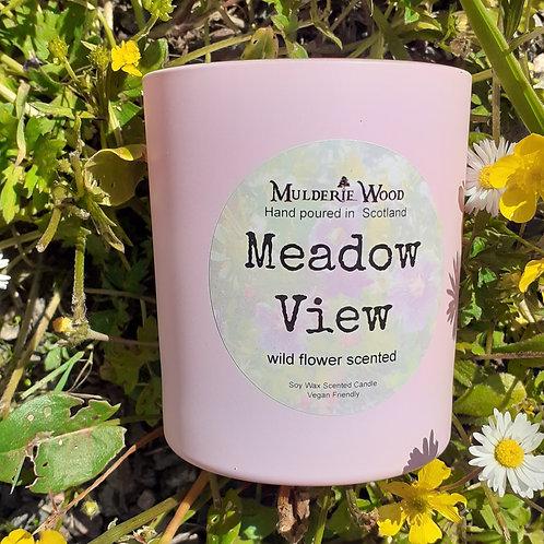 Meadow View Wild Flower Scented Soy Wax Luxury Pink Jar
