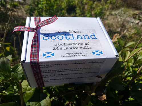 Scottish Collection Gift Boxed Highly Scented Soy Wax Melts with Botanicals