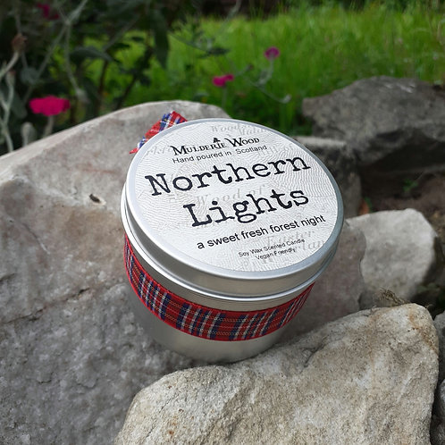 Northern Lights Soy Wax Sweet Minty Pine Handmade Scottish Candle