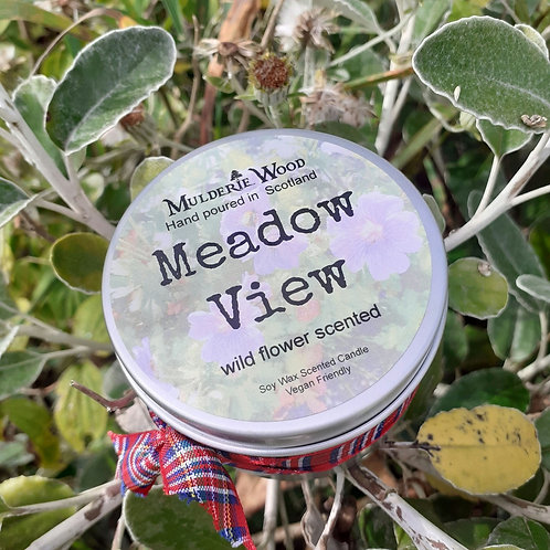 Meadow View Wildflower Floral Soy Wax Vegan Handmade Scottish Candle