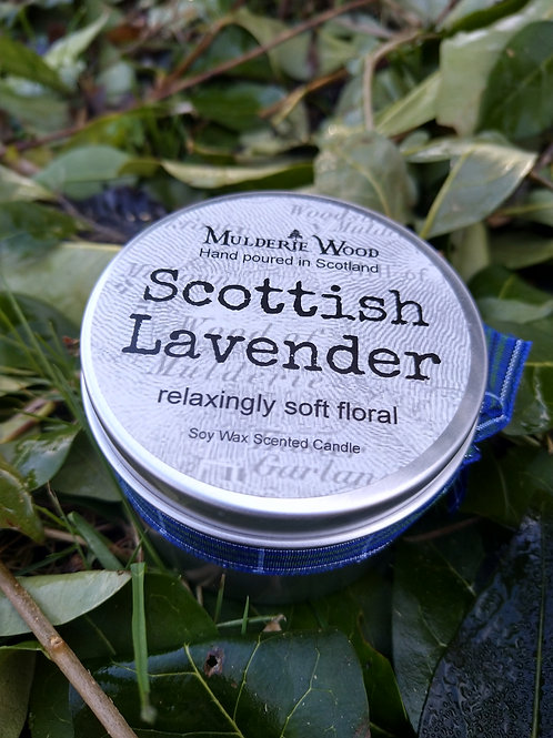 Scottish Lavender Soy Wax Soothing Relaxing Coorie Handmade Tin Candle