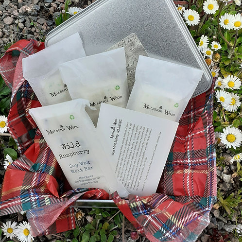 Scottish Collection Highly Scented Soy Wax Melts with Botanicals Gift Tin