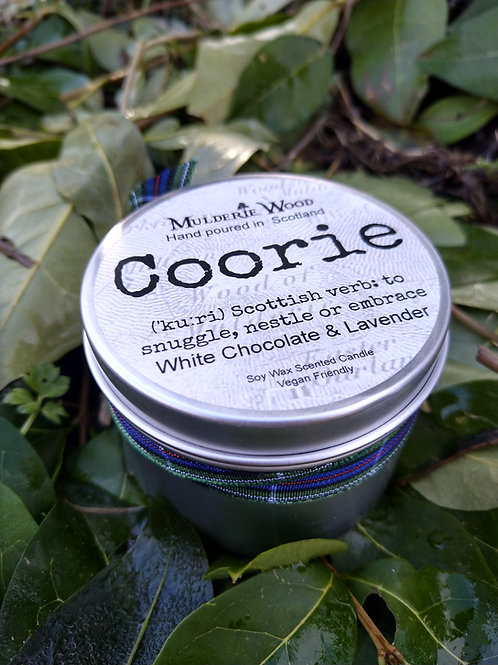 Coorie Snuggle Soothing Scots Lavender and Chocolate Soy Wax Candle