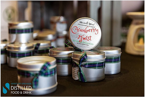 Cranberry Twist Soy Wax Christmas Winter Handmade Scottish Festive Candle