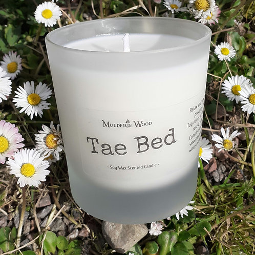 Tae Bed Scottish Soothing Calming Scented Soy Wax Glass Candle 50+Hours