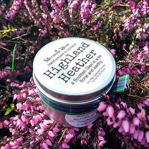 Highland Heather Scottish Glen Scented Soy Wax Tin Candle