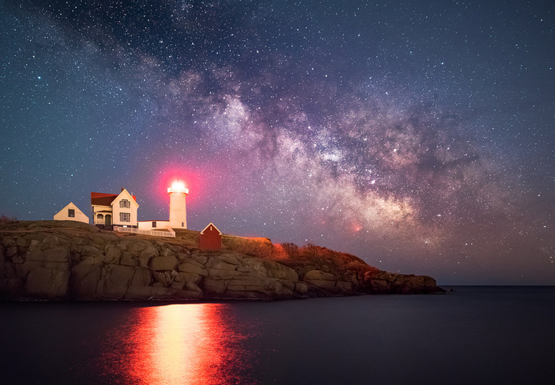 Stars over Cape Neddick.