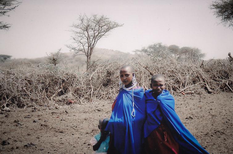 Maasai Girls in Blue.