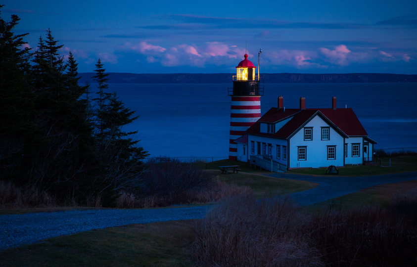 Dusk at West Quoddy.