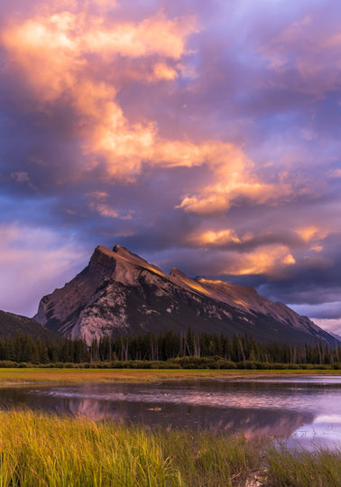 Sunset in the Canadian Rockies.