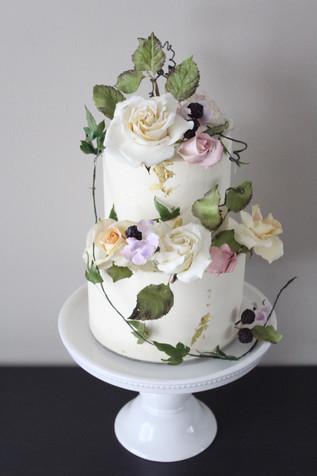 Overgrown Garden Wedding Cake