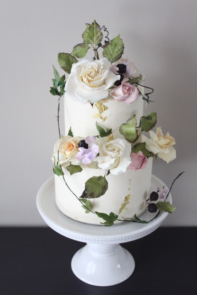 Overgrown Garden Wedding Cake