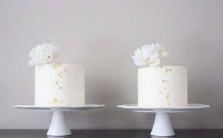 Twin Peony Cakes