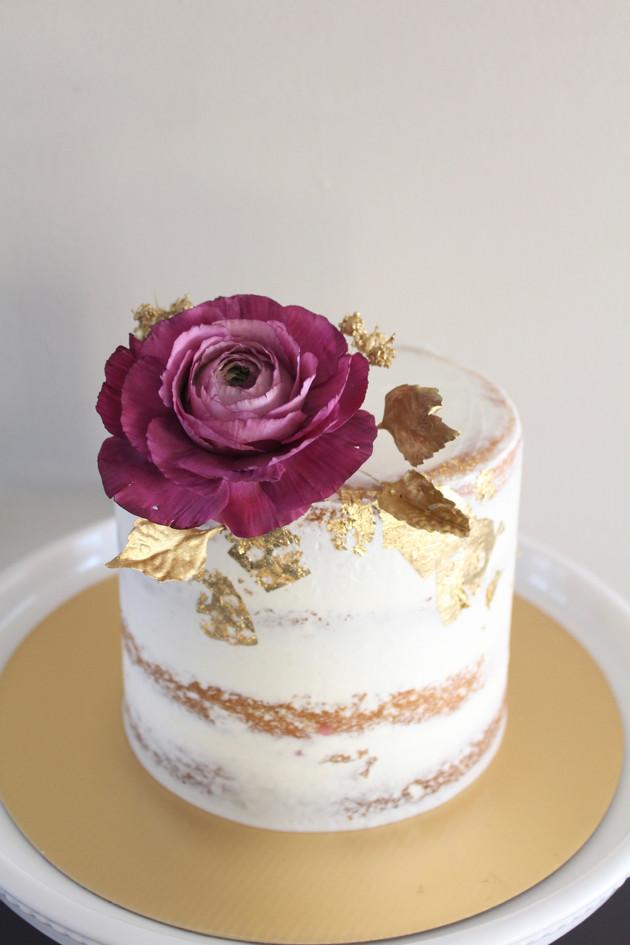 Red Ranunculus Cake