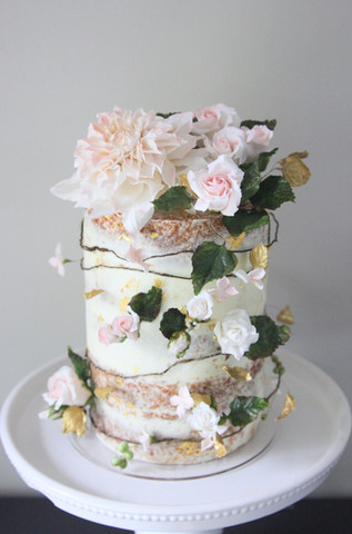 Dahlia Wedding Cake