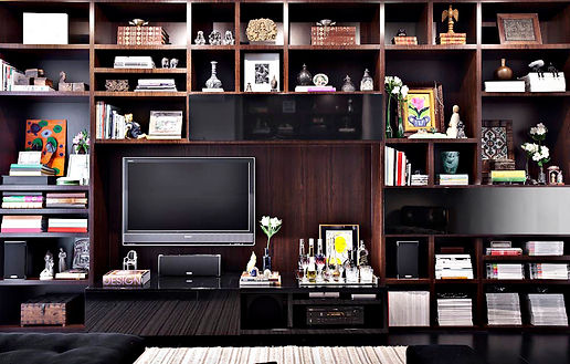 Home theater Estante nichos louro preto