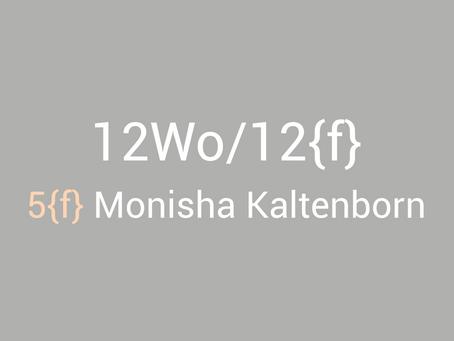 12Wo/12{f} - Monisha Kaltenborn
