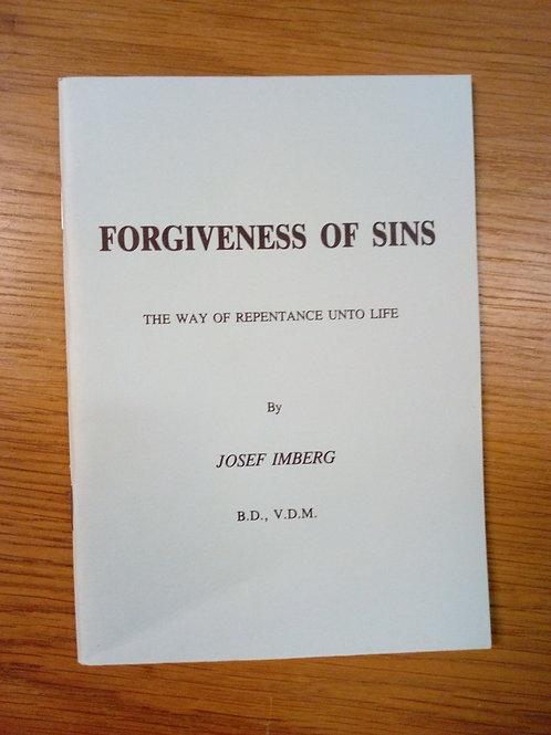 Forgiveness of Sins - Josef Imberg
