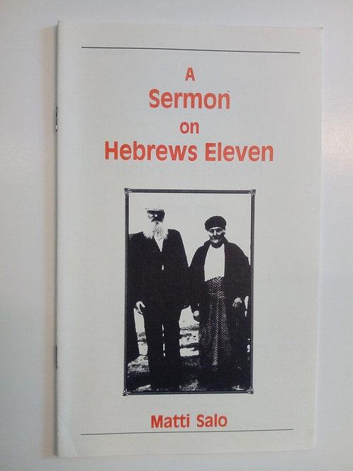 A sermon on Hebrews Eleven