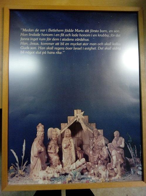 Tavla Julevangeliet, Betlehem, trä