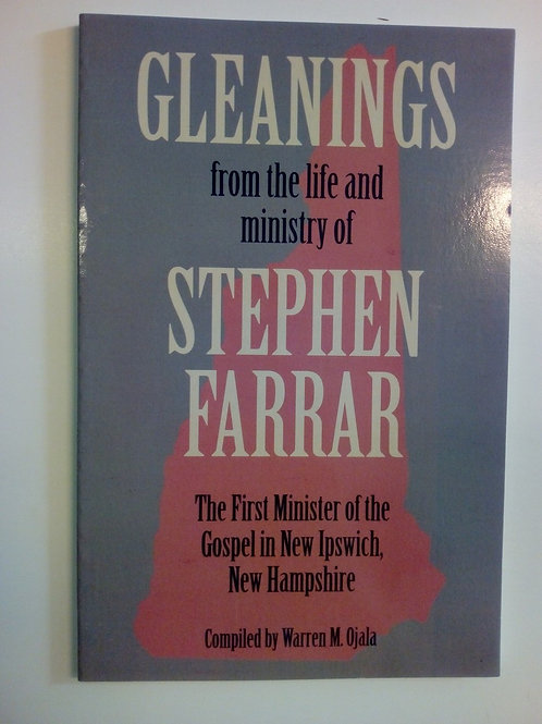 Gleanings from the life and ministry of Stephen Farrar