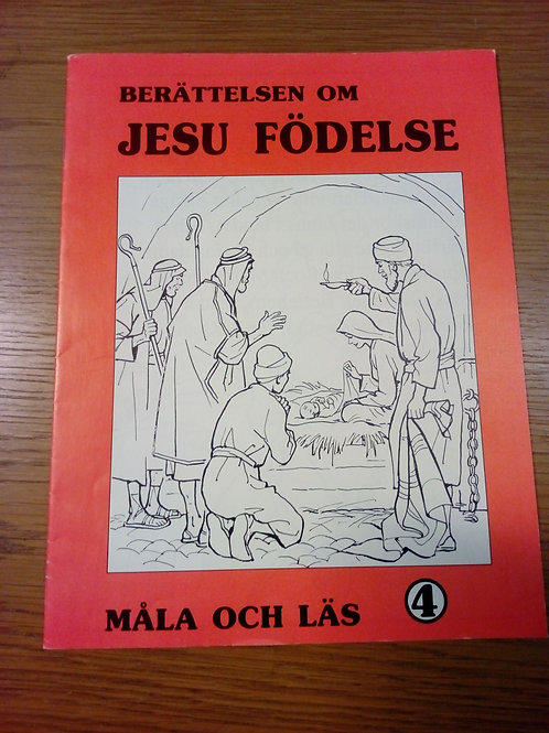 Jesu födelse - Målarbok
