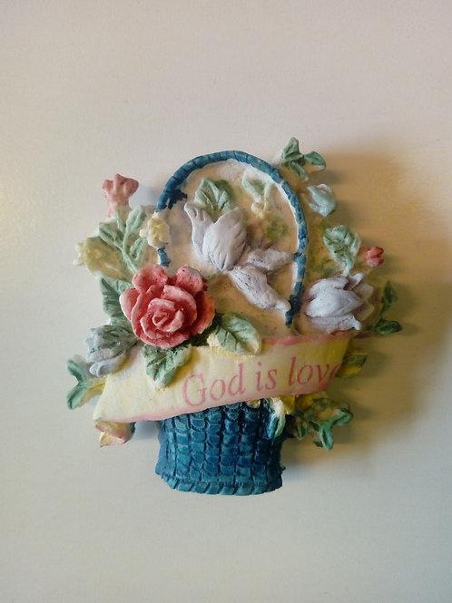 Blomkrukor, God is Love - Magnet