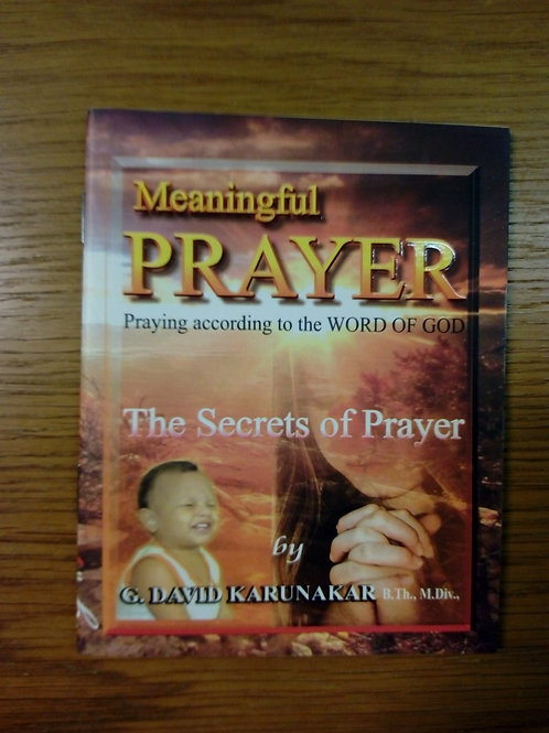Karunakar D, Meaningful Prayer