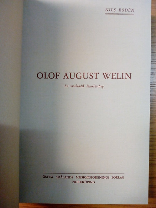 Olof August Welin