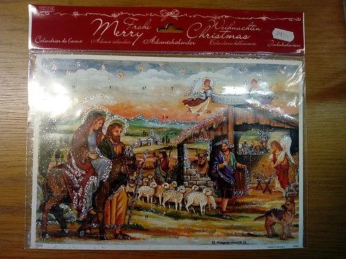Adventskalender, olika motiv från Jesu födelse