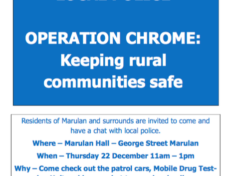 Marulan Meet and Greet with your local Police
