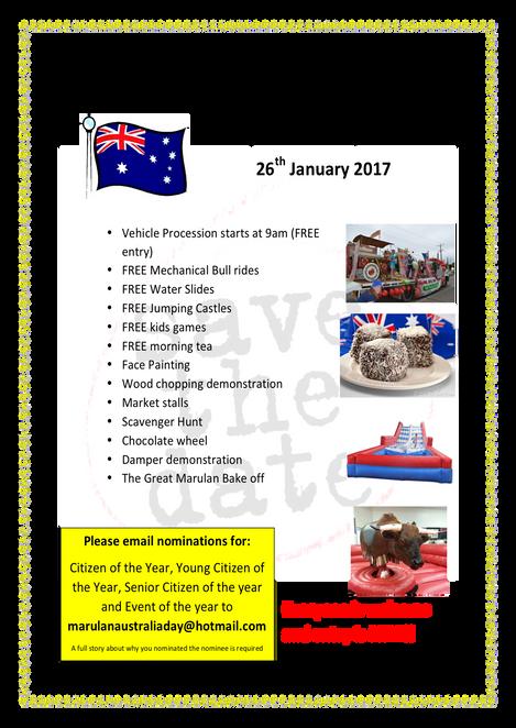 Marulan Australia Day 2017