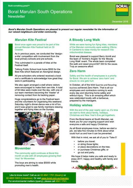Boral Marulan South Operations