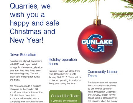 From the Gunlake Quarries Team