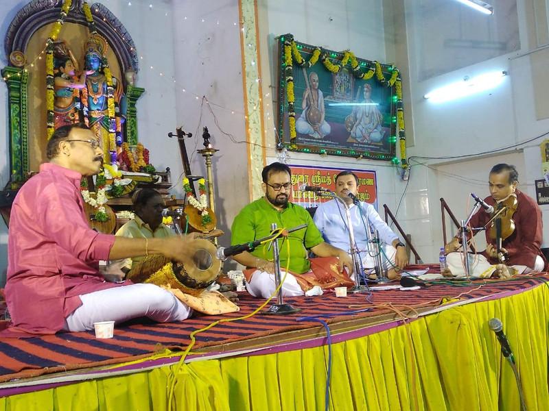 Dr. Srikantham Nagendra Shastry performing at Madurai Sourashtra Sabha