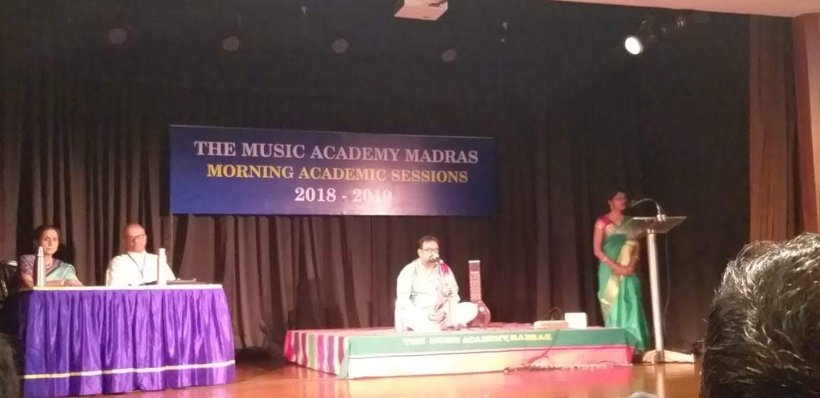 Dr. Nagendra Shastry at The Madras Music Academy