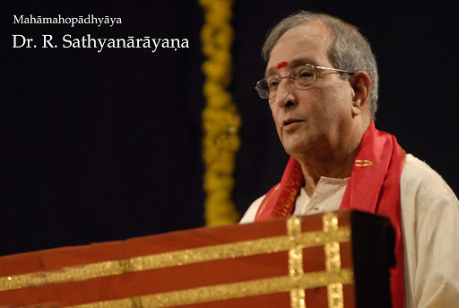 Dr. Srikantham Nagendra Shastry's Srividya guru, Late Padmashri Mahamahopadhyaya Dr. R Sathyanarayana