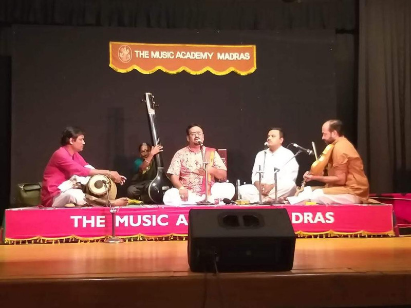 Dr. Nagendra Shastry performing at the famous Madras Music Academy